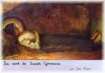 """""""la mort de sainte Germaine"""" par Jean Ningres - Eglise de Pibrac (31)"""