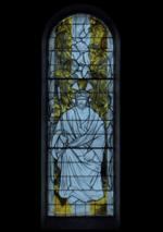 vitrail le Christ aux outrages - basilique Sainte Germaine de Pibrac (31 - Haute-Garonne)