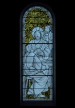 vitrail les pèlerins d'Emmaüs - basilique Sainte Germaine de Pibrac (31 - Haute-Garonne)