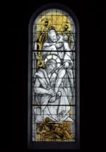 vitrail le lavement des pieds - basilique Sainte Germaine de Pibrac (31 - Haute-Garonne)