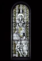 """vitrail le """"miracle"""" des roses - basilique Sainte Germaine de Pibrac (31 - Haute-Garonne)"""